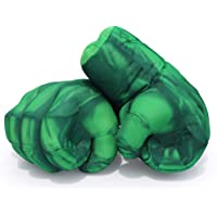 1 Pair Kids Superhero Boxing Gloves Smash Hands Fists Superheros Big Soft Plush Costume Cosplay Superhero Toys Gloves…