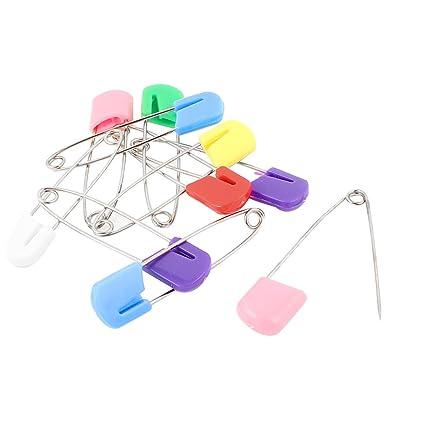 Sourcingmap-Cabeza de plástico de bloqueo de bebé pañales de tela Imperdibles Clip 10pcs