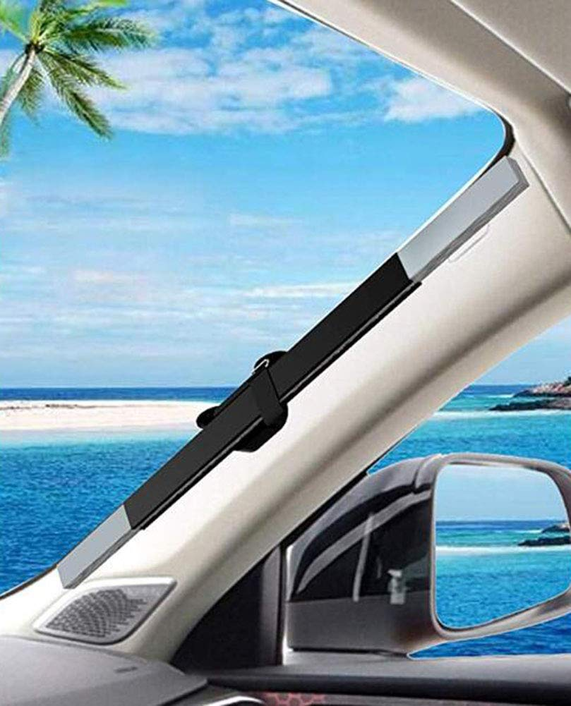 AWGPB Auto Sonnenschutz Sommer Sonnenschutzmittel Sonnenschutz Sonnenblende Auto-einziehbare Front Sonnenschutz Visier Frontscheibe Dehnbar