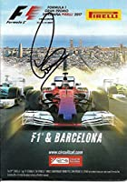2017 Lewis Hamilton Formula 1 F1 Barcelona Mercedes Benz Signed Media Guide - Autographed NASCAR Miscellaneous Items by Sports Memorabilia