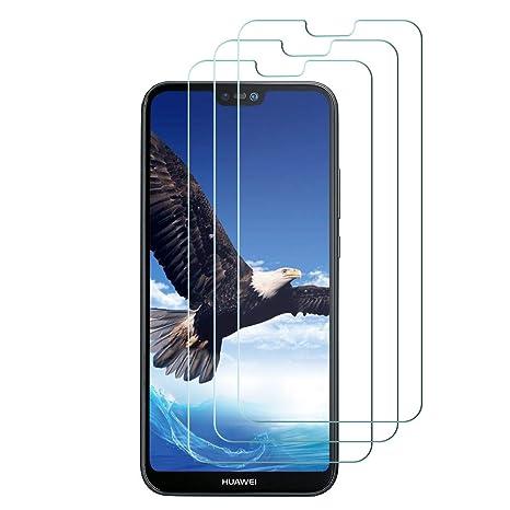 Deofde Protector de Pantalla Para Huawei P20 Lite, [3 Pack] Cristal Templado Vidrio Templado 9H Dureza: Amazon.es: Electrónica