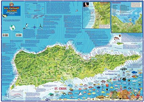 U.S. Virgin Islands Dive & Adventure Guide USVI Dive Map ...