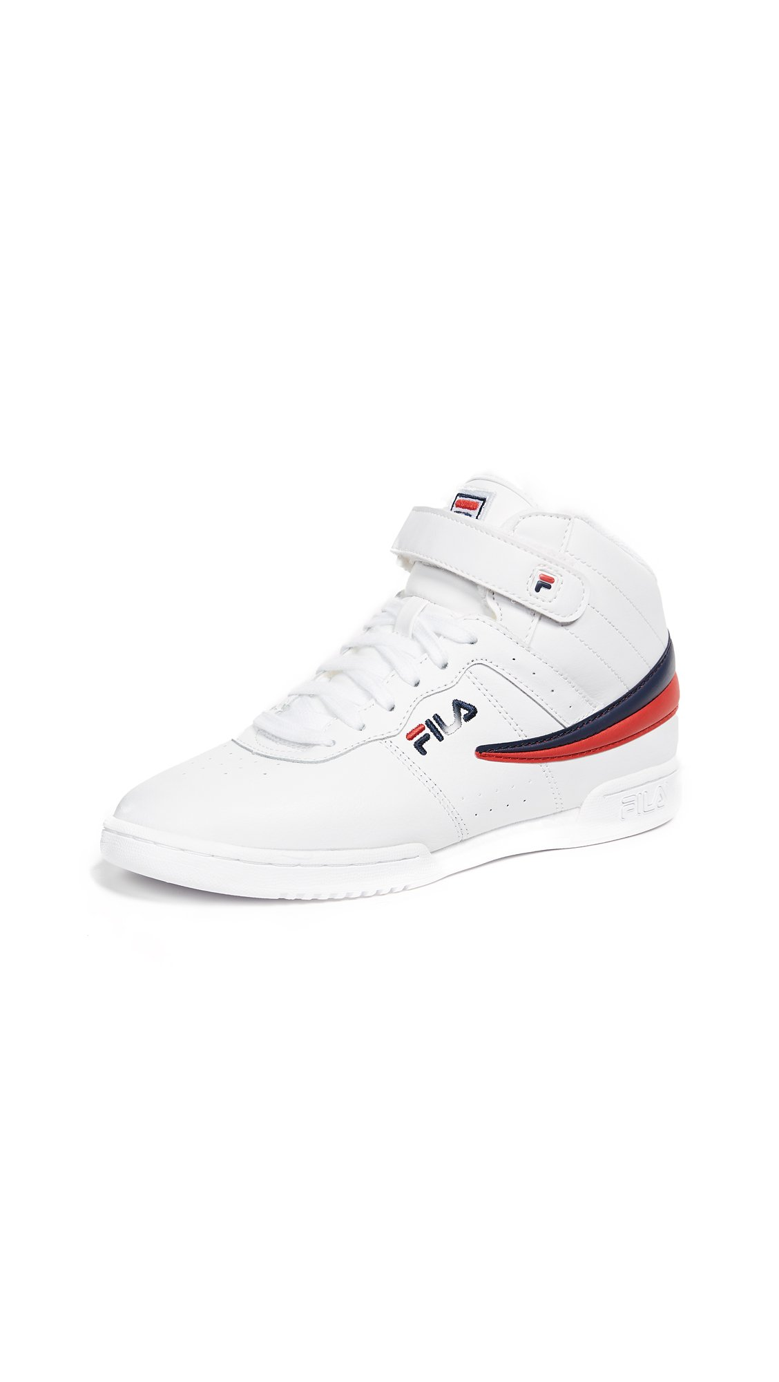 Fila Women's F-13 Sneakers, White Navy Red, 6.5 B(M) US