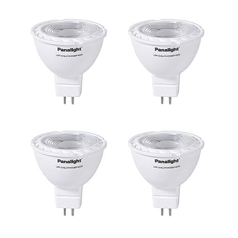Panalight Pack de 4 Lámparas Led Dicroica GU5.3 de 5 W, 2700K: Amazon.es: Iluminación