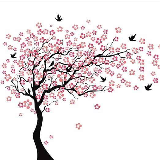 Fagreters 190X210Cm Grandes flores de cerezo rosadas Árbol Pájaros ...