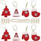 Broadroot Navidad Colgando pancartas, Bricolaje Bandera de Clip Linda Navidad año Fiesta decoración