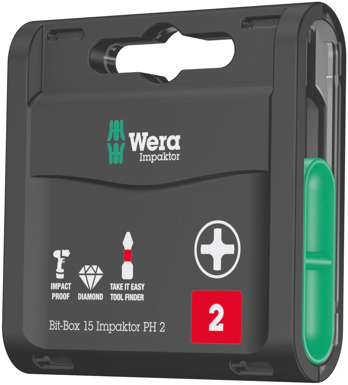 Wera 05057752001 Bit-Box 15 Impactor PH 2 (Pack of 15) by Wera
