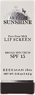 product image for Beekman 1802 - Lip Balm - Hello Sunshine SPF15 - Nourishing Goat Milk Lip Protectant with SPF For Dry, Cracked Lips - Cruelty-Free Bodycare - 0.15 oz