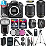 Holiday Saving Bundle for D7100 DSLR Camera + AF-P 70-300mm VR Lens + 18-105mm VR Lens + Flash with LCD Display + 2 Of 32GB Card + 1yr Extended Warranty + 0.43X Wide Angle - International Version