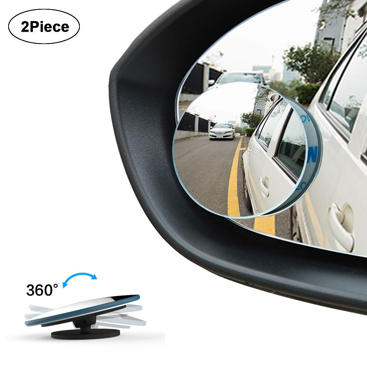 WildAuto Blind Spot Mirrors,Adjustable Car Auxiliary Wide Angle Mirror for Universal Cars