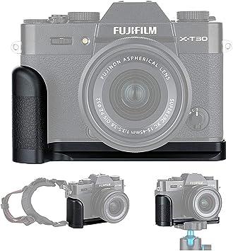 Aluminum Alloy Camera Hand Grip Quick Release L Plate Bracket with Camera Hand Wrist Strap for Fujifilm X-T30 X-T20 X-T10 Replace Fuji MHG-XT10