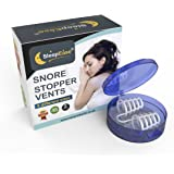 SleepEase® PREMIUM Snore Stopper Vents! STOP SNORING NOW! - Advanced Snoring Aid Scientifically Designed To Stop Snoring, Heavy Breathing, Sleep Apnea & Nasal Congestion - 4 Different Sized Vents.