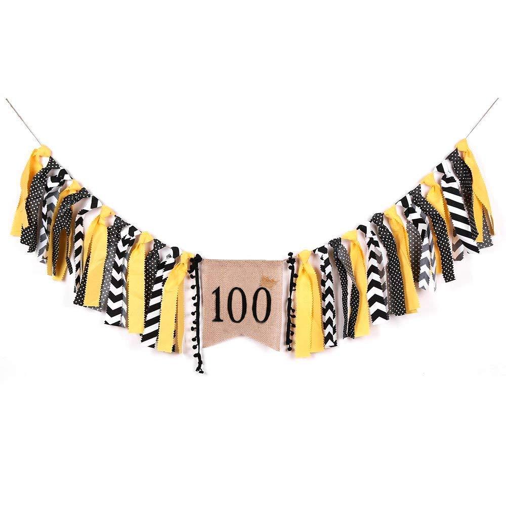 Amazon.com: Palasasa Corona niño negro y amarillo 100 días ...