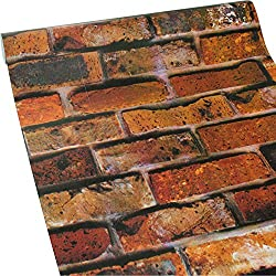 ZeroStage 11 Yard Red Brick Wallpaper Peel and Stick Fireplace Kitchen Dorm Child Living Room Vintage Stickers (5228)