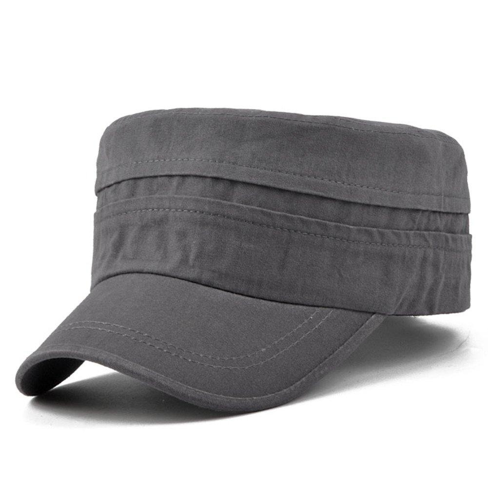 PLMWQAVDFN Sombrero de los Hombres Gorras Planas Sombrero para el ...