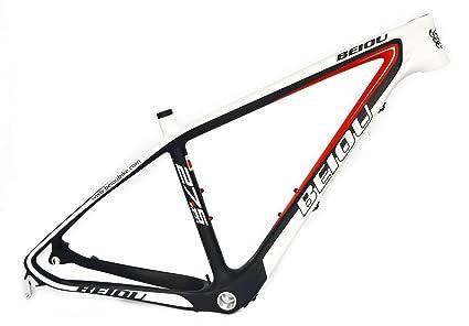 Amazon.com : BEIOU 19-Inch 3k Carbon Fiber Mountain Bike Frame 27.5 ...