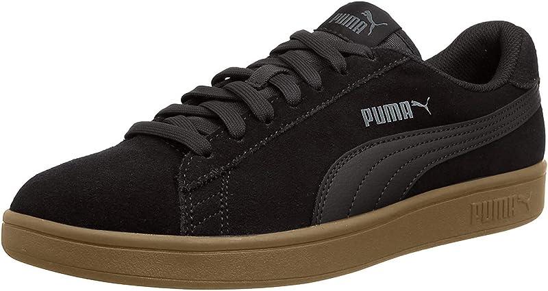 Puma Smash V2 Sneakers Unisex Damen Herren Schwarz/Gummi