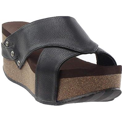 0b79159b4d29 Corkys Womens Greenfield Casual Sandals Black
