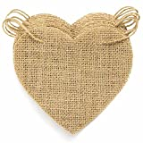 "Burlap banner is the best decoration for party or any occasion.SPECIFICATIONS Material: 100% natural burlap (jute) Package: 15 piece banners and 1 hemp rope Size: each banner is 5.5"" H x 5.1"" W, the rope is 14.5 feet Design: the jute string i..."