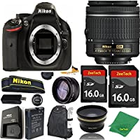 Great Value Bundle for D5200 DSLR – 18-55mm AF-P + 2PCS 16GB Memory + Wide Angle + Telephoto Lens + Backpack
