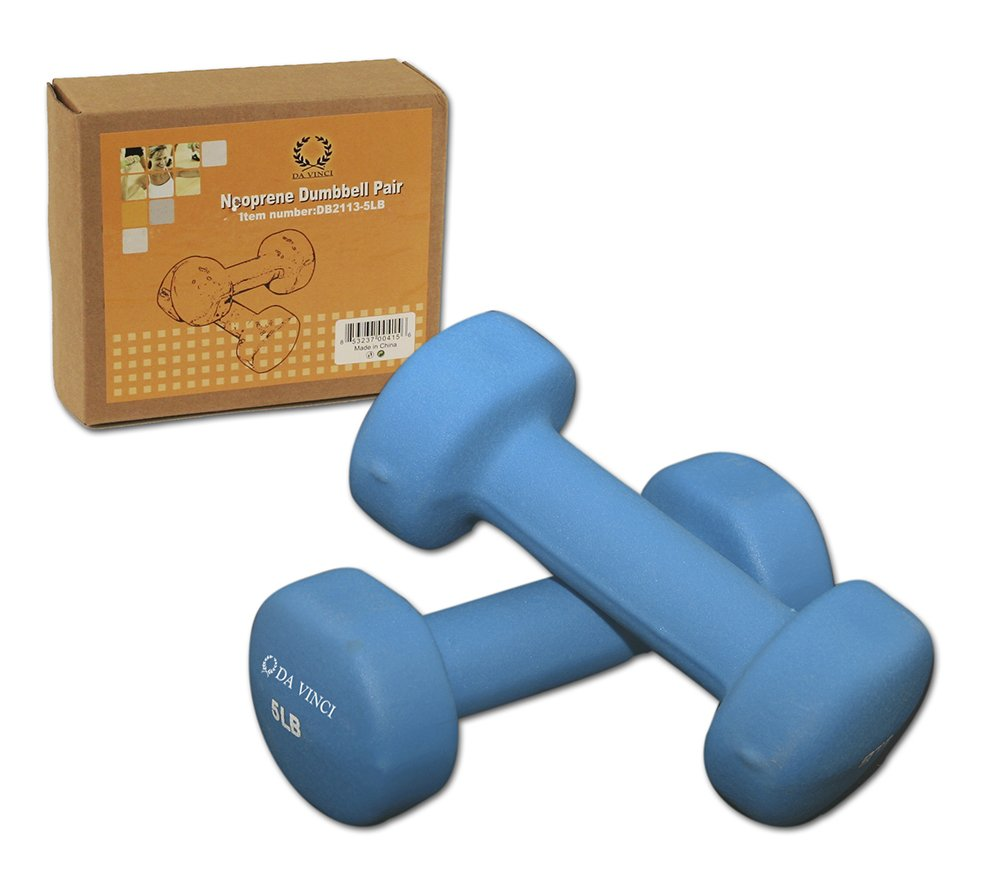 Da Vinci Pair of Neoprene Dumbbells with Non Slip Grip Choose Your Dumbbell Weight