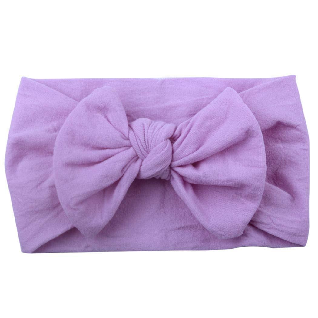 Xixini Kinder Mode Lässig Niedlich Headwear Bow Soft Baby Stirnband 5,91 x 3,54 Zoll 1 Stück