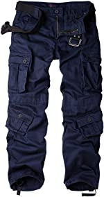 AKARMY Men's Cotton Casual Military Army Camo Combat Work Cargo Pants
