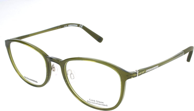 51.0 Unisex-Adulto Gr/ün Verde D-Squared Brillengestelle DQ5220 093-51-19-140 Montature