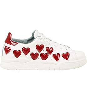 2edf74cffec65 Chiara Ferragni Sneakers White Hearts FX Silver 3 CF2070-A Nuova ...