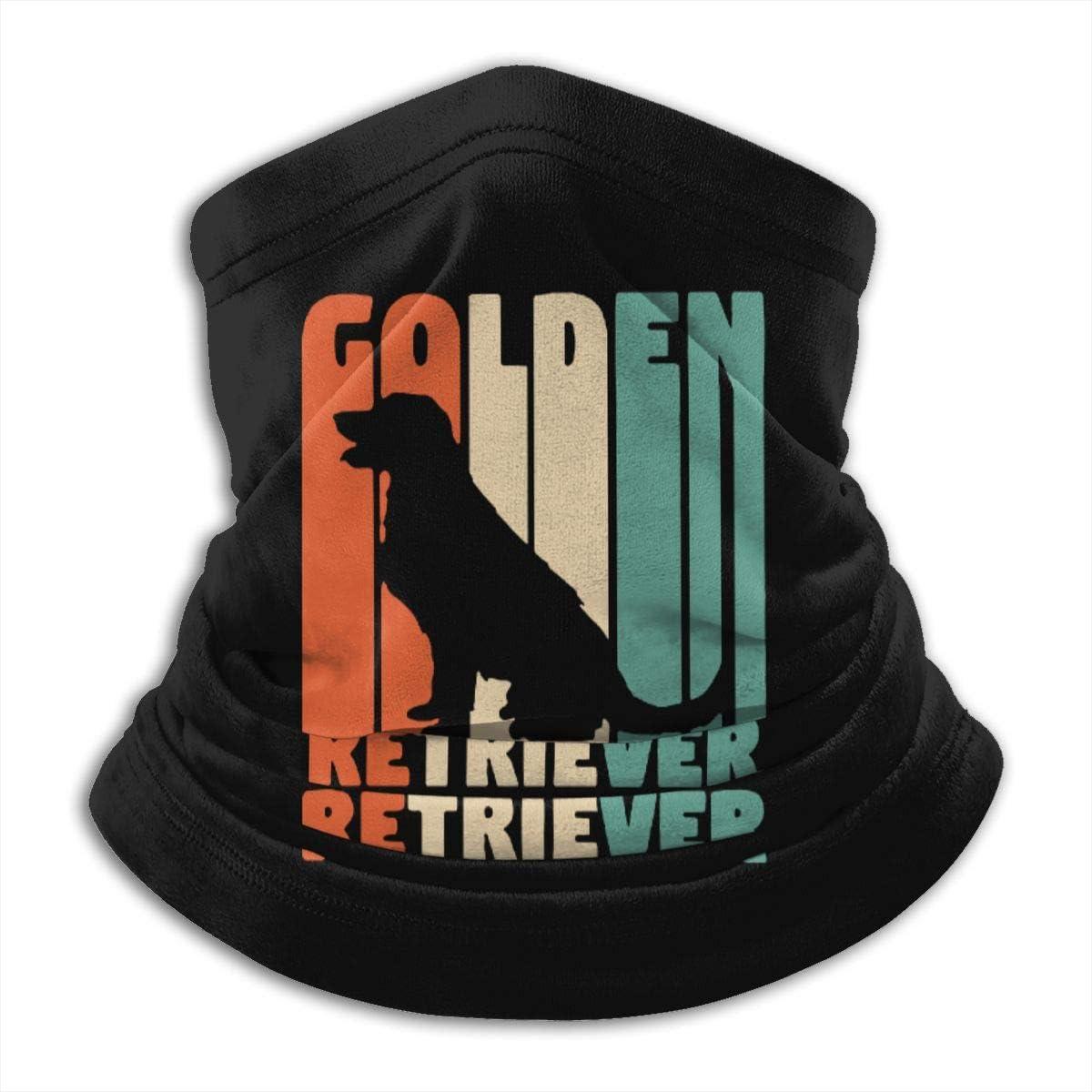 Golden Retriever Men /& Women Face Mask Windproof Neck Warmer Winter Neck Gaiter For Fishing Motorcycling