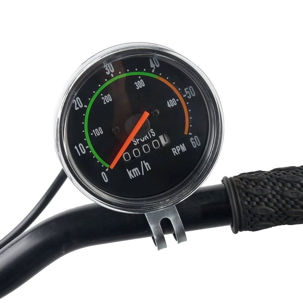 Lixada1 Classical Bike Stopwatch Speedometer Cycling Odometer Mechanical Bike Stop Watch Speed RPM Gauges