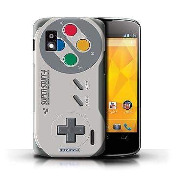 Carcasa/Funda STUFF4 dura para el LG Nexus 4/E960 / serie: Consola de juegos - Super Nintendo