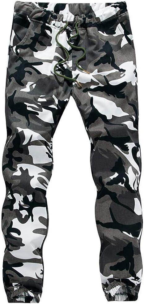 Liquidation - Pantalones de Camuflaje para Hombre, Estilo Militar, Estilo Informal, Talla Grande Blanco XXL: Amazon.es: Ropa y accesorios