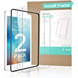 """【2 PACK Gift INSTALL FRAME】New iPad 9.7"""" 6th Generation Screen Protector (2018&2017) , Tempered Glass iPad Air 2 Screen Prote"""