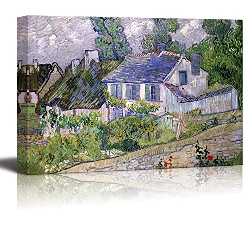 Houses at Auvers Houses in Auvers by Vincent Van Gogh Print Famous Painting Reproduction