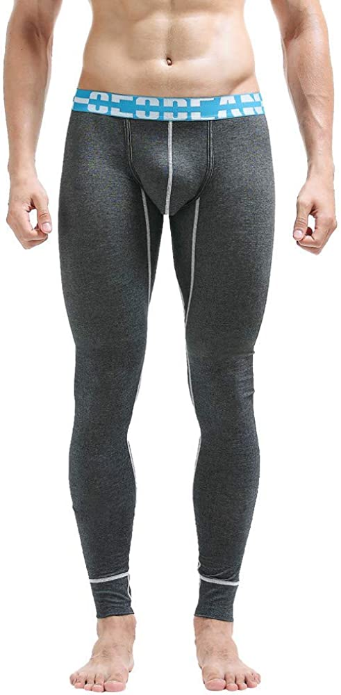 Geetobby New Men Leggings Cotton Breathable Solid Sweatpants Long Pants Trousers