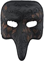 RedSkyTrader Mens Checkered Short Nose Venetian Mask