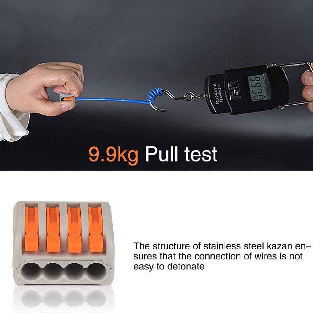 con caja el/éctrica reutilizable Juego de 40 conectores de alambre de nailon aislantes para el hogar surtido de terminales con abrazadera de conductor universal