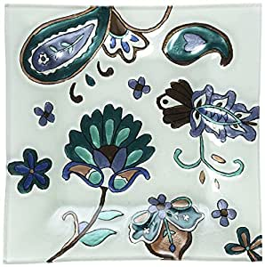 Perfectly Paisley Paisley Floral Decorative Plate by Pavilion, 10-Inch