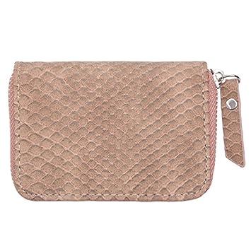 GENGXINLIN Mini Monedero Mujer billeteras Nueva Zipper PU ...