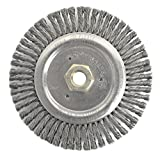 Weiler 79805 Dually Root Pass Weld Cleaning Brush, 6'', 0.20'' Steel Wire Fill, 5/8''-11 UNC Double-Hex Nut (Pack of 5)