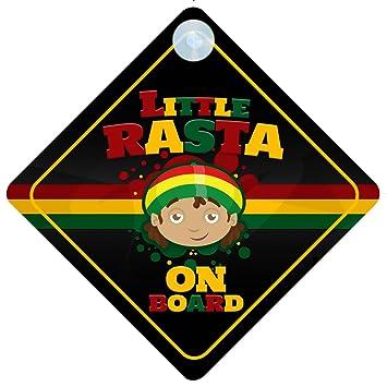 Amazon.com: Little Rasta on board coche Señal nuevo bebé ...