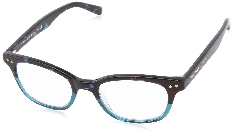 Amazon.com: Kate Spade Women\'s Rebec Rectangular Reading Glasses,Sky ...