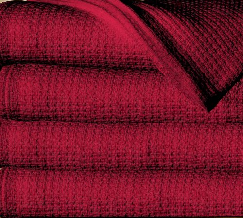 Sun Yin 100-Percent Cotton King Blanket, Burgundy