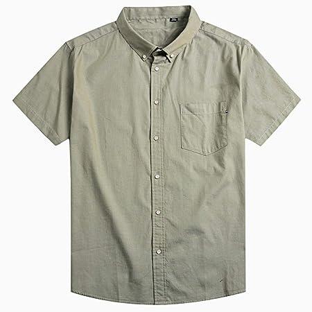 NSSY Camisa de Hombre Camisa de Vestir de Manga Corta para Hombres ...