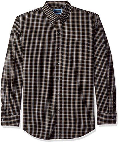 Arrow 1851 Men's Hamilton Poplins Long Sleeve Button Down Plaid Shirt