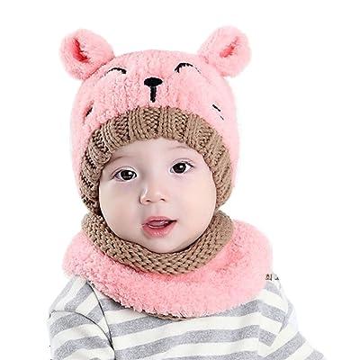 Écharpe d hiver pour Enfants, Youson Girl® Mignon Bébé Unisexe Chapeau et  Echarpe aaf91604381