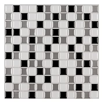 Ecoart Peel and Stick Self Adhesive Wall Tile for Kitchen   Bathroom  Backsplash  Mosaic. Amazon com  Ecoart Peel and Stick Self Adhesive Wall Tile for