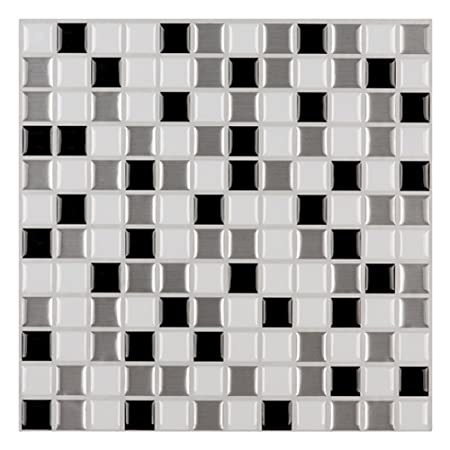 Ecoart Wall Tile Stickers Peel And Stick Self Adhesive Wall Tile With  Mosaic Effect For