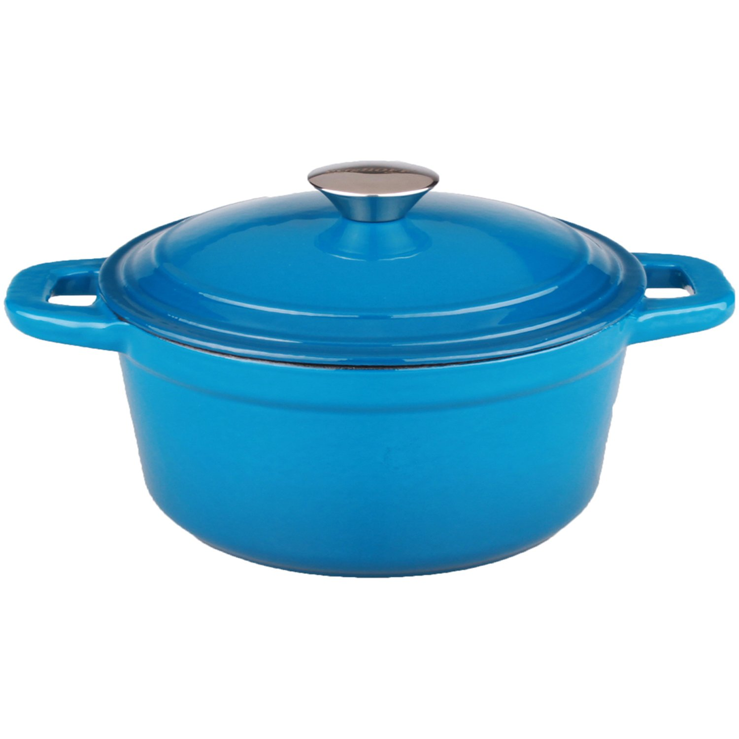 Berghoff Neo Cast Iron Stockpot with a Lid, Blue, 3-Qt.